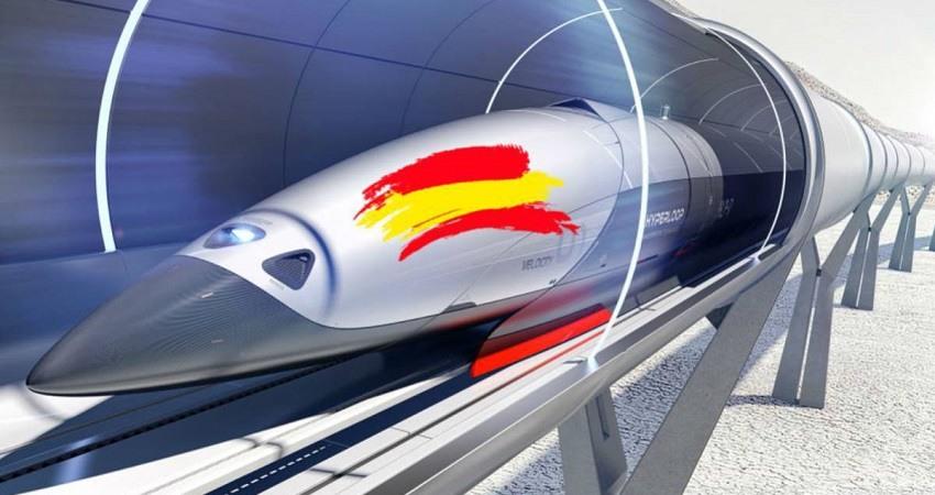 El primer tren supersonico Hyperloop se fabrica en Espana