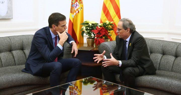 """Sánchez y Torra pactan negociar el """"conflicto"""" en cataluña mediante un """"diálogo efectivo"""""""