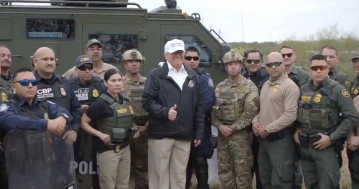 """""""Nada como un muro"""", se reafirma Donald Trump en la frontera con México"""