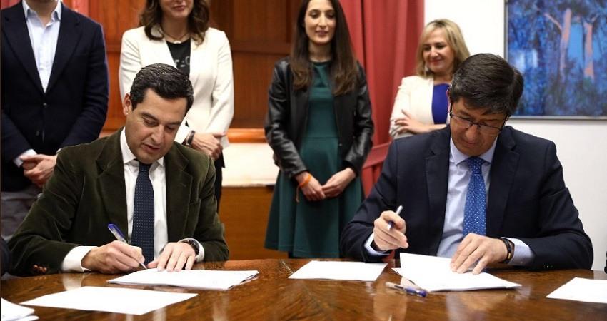 El PP pacta por separado con Ciudadanos y Vox para gobernar Andalucia