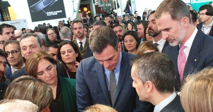 Felipe VI, Sánchez y Torra inauguran el Mobile World Congress 2019