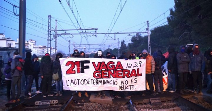 Los CDR trataron de cortar las principales carreteras catalanas en la huelga general sin seguimiento