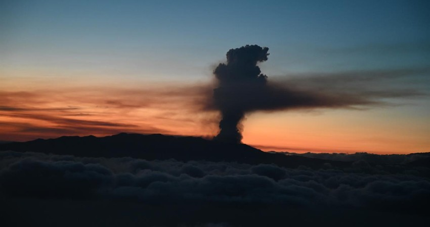 Volcán en Montaña Rajada